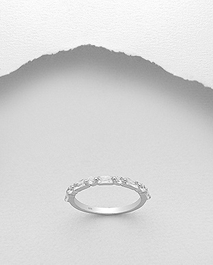 Sterling Multi CZ Ring