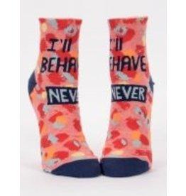 Blue Q Ladies Ankle Socks-I'll Behave Never