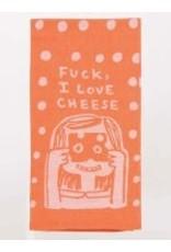 Blue Q Dish Towel- I Love Cheese