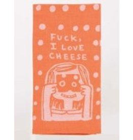 Blue Q Dish Towel- I Love Cheese