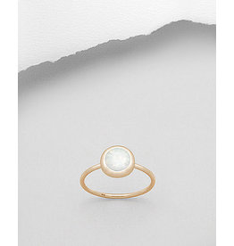 glimmer Opal Ring Gold