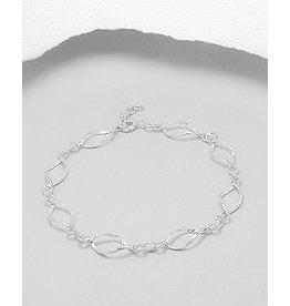 Sterling Twisted Oval Bracelet