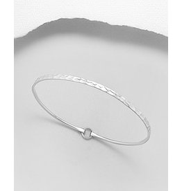 Sterling Bracelet- Hammered Bangle