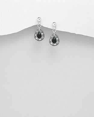 Sterling Sterling Stone Drop Earrings