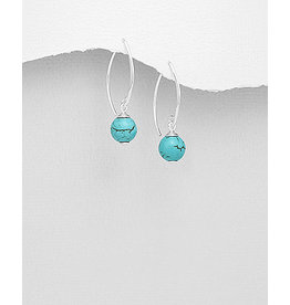 Sterling Turquoise Drop Earrings