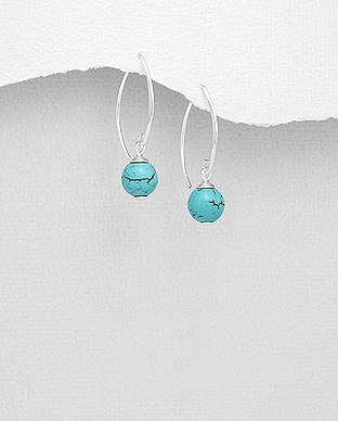 Sterling Turquoise Drop Earrings