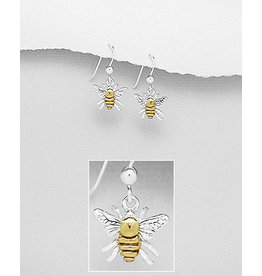 Sterling Gold/Silver Bee Earrings
