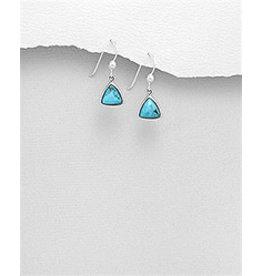 Sterling TQ Triangle Trop Earrings