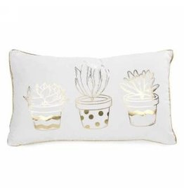 Cushion- Gold Cactuses