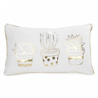 Cushion- Gold Cactuses