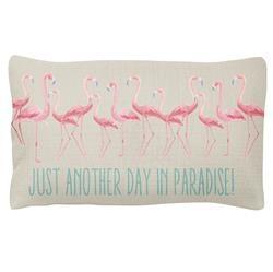 Karma Lumbar Pillow- Flamingo