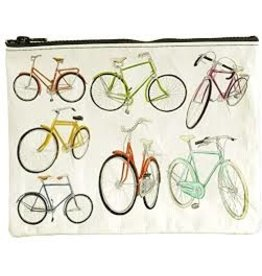 Blue Q Zipper Pouch- Bicycles