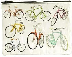 Blue Q Zipper Pouch- Bicycles