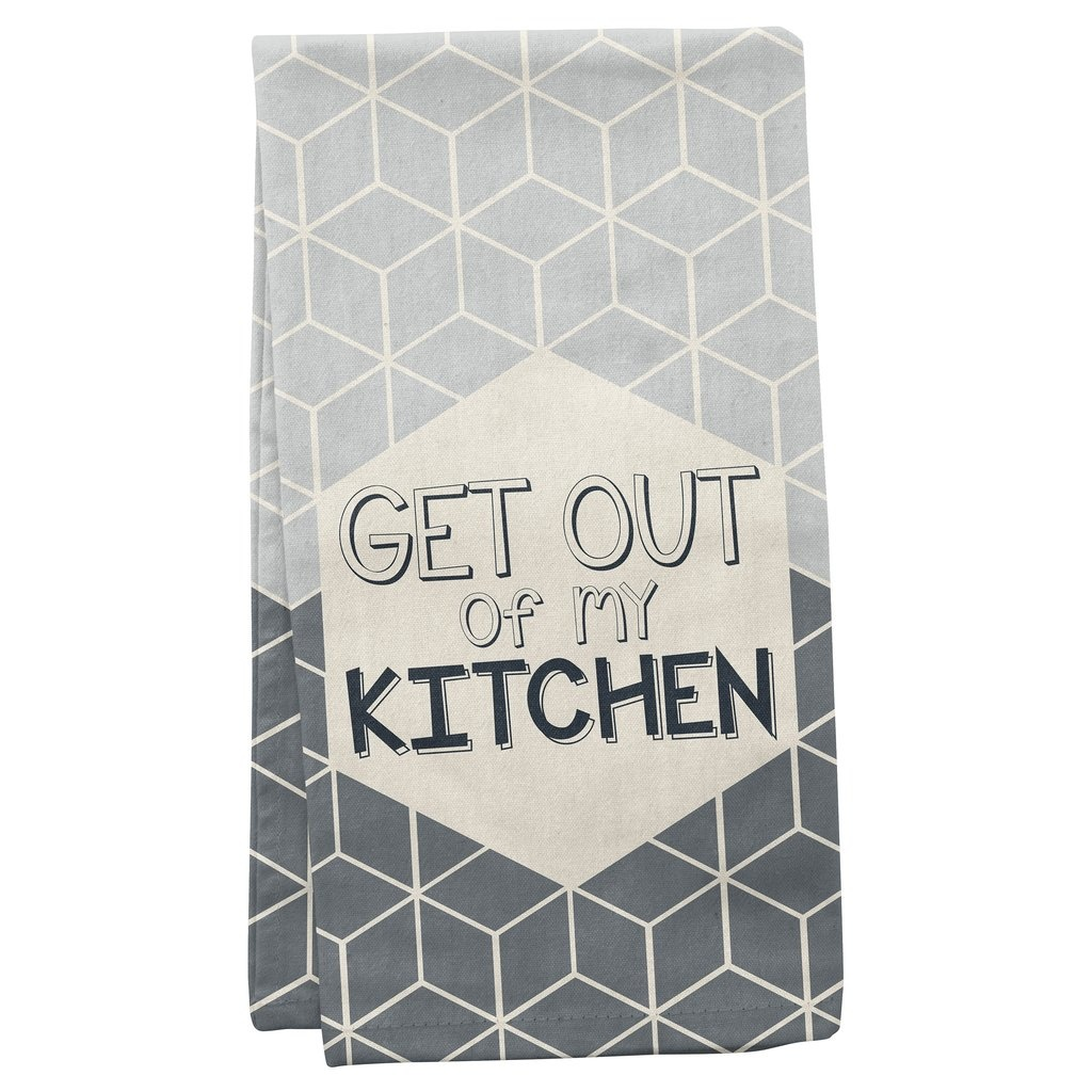 Wit Get Out Tea Towel