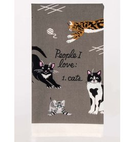 Blue Q Dish Towel-People I Love: Cats