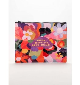 Blue Q Zipper Pouch- You're Beautiful