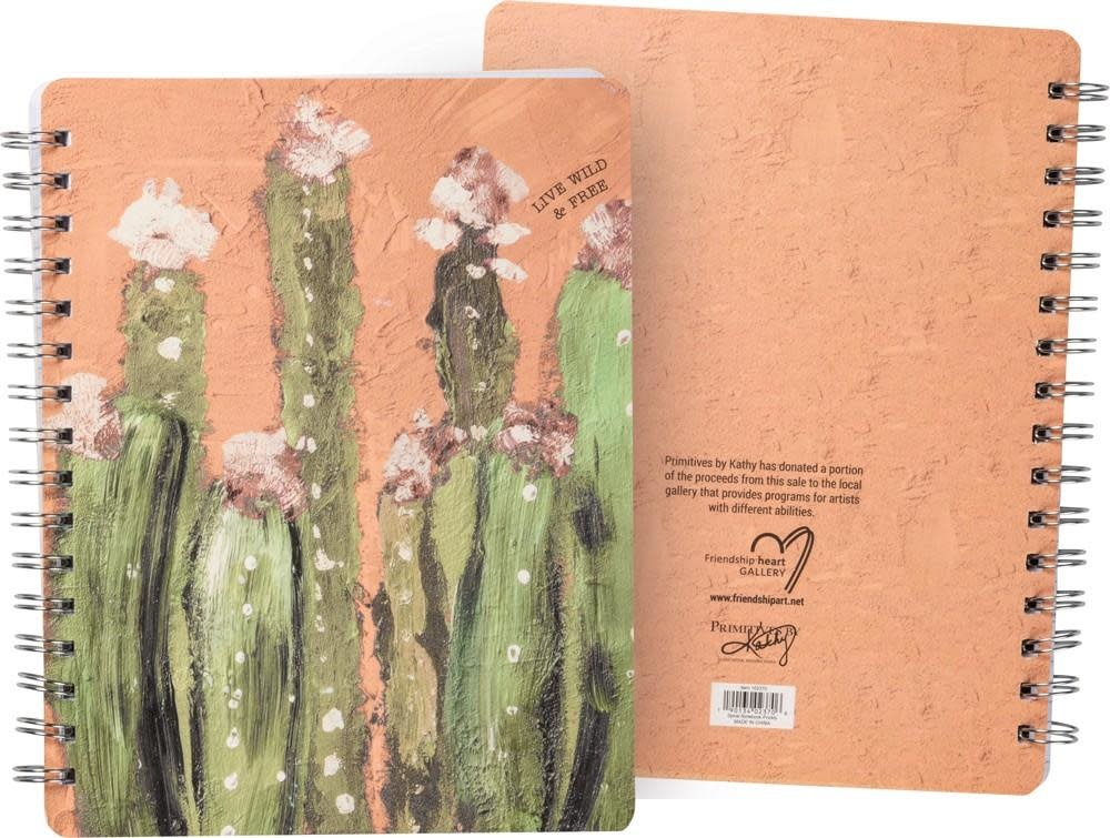 Primitives by Kathy Spiral Notebook- Live Wild