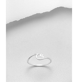 Sterling Wave Ring W/Sailboat