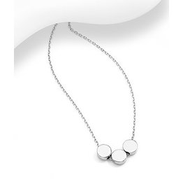 Sterling Triple Circle Necklace