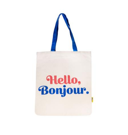 Main and Local Hello/Bonjour Tote Bag