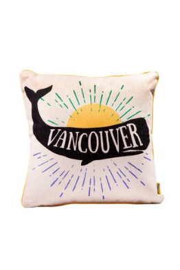 Main and Local Vancouver Whale Pillow