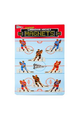 Main and Local Canadian Hockey Magnet Set