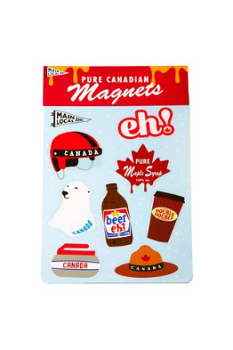 Main and Local Canadian Icon Magnet Set