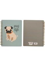 Primitives by Kathy Spiral Notebook- Pug Life