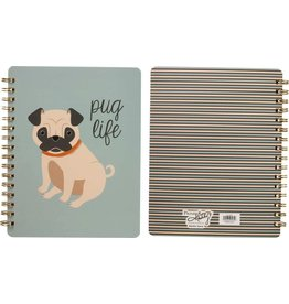Primitives by Kathy Spiral Notebook- Pug Life