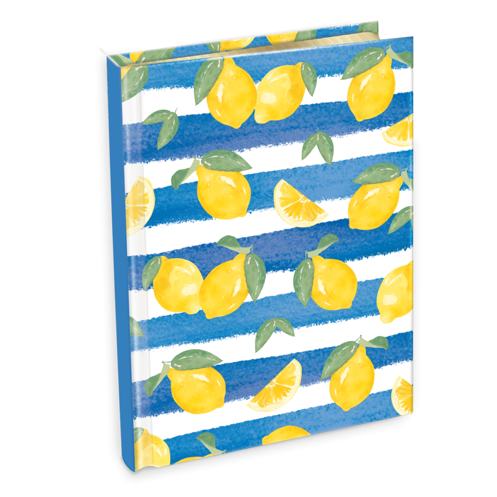 Lemon Stripe Journal