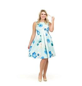 Papillon Moana Floral Print Pleat Dress
