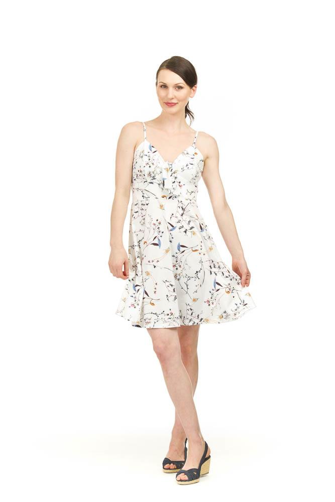 Papillon Mica Floral Flare Dress