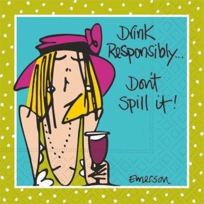 Design Design Napkins- Drinking Responsibly