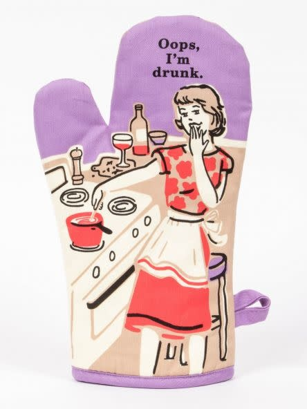 Blue Q Oven Mitt- Oops I am Drunk