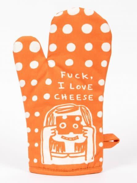 Blue Q Oven Mitt- Fuck I Love Cheese