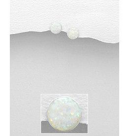 Sterling Sterling Opal Earrings (White)