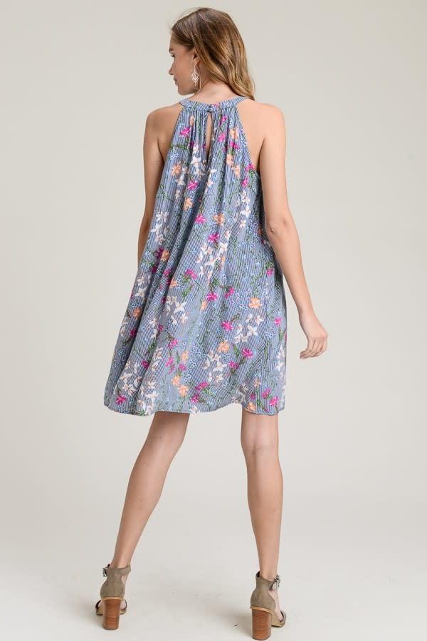 Doe & Rae Karen Halter Floral Dress