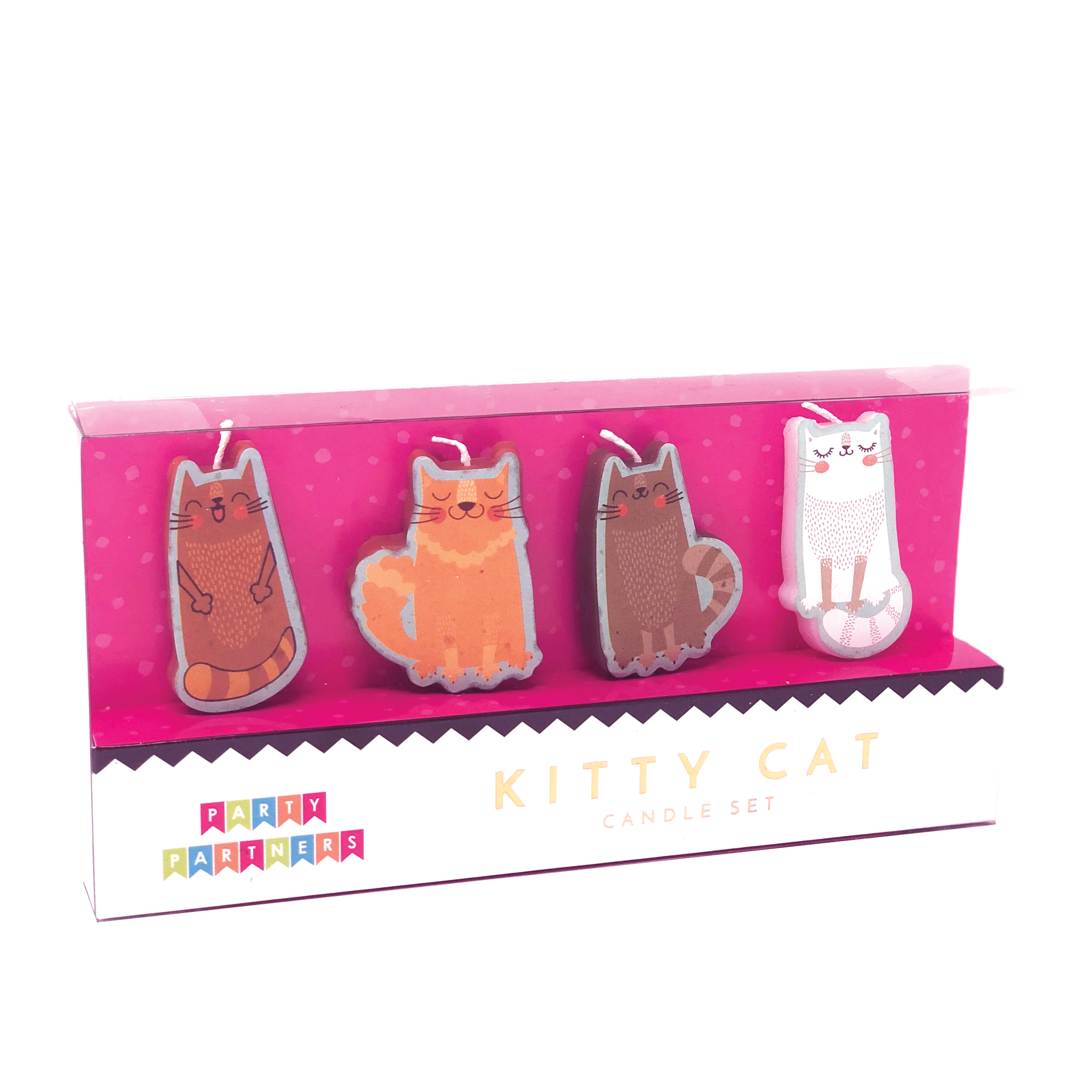Party Partners Candle Set-Kitty Cat