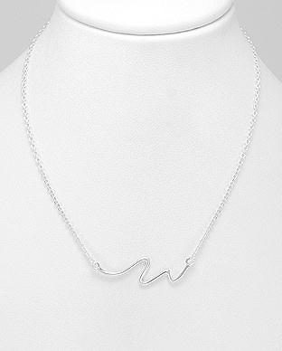 Sterling Necklace- Wave