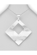 Sterling Necklace- Large Square