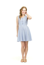 Papillon Mindy Striped Fit & Flare Dress