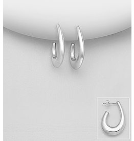 Sterling Drops- Thick sterling hoops