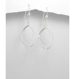 Sterling Drops- Double drop earring
