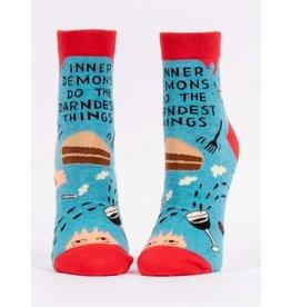 Blue Q Ladies Ankle Socks-Inner Demons