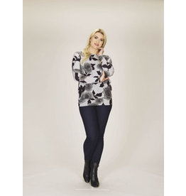 Papillon Grey Floral Print Sweatshirt