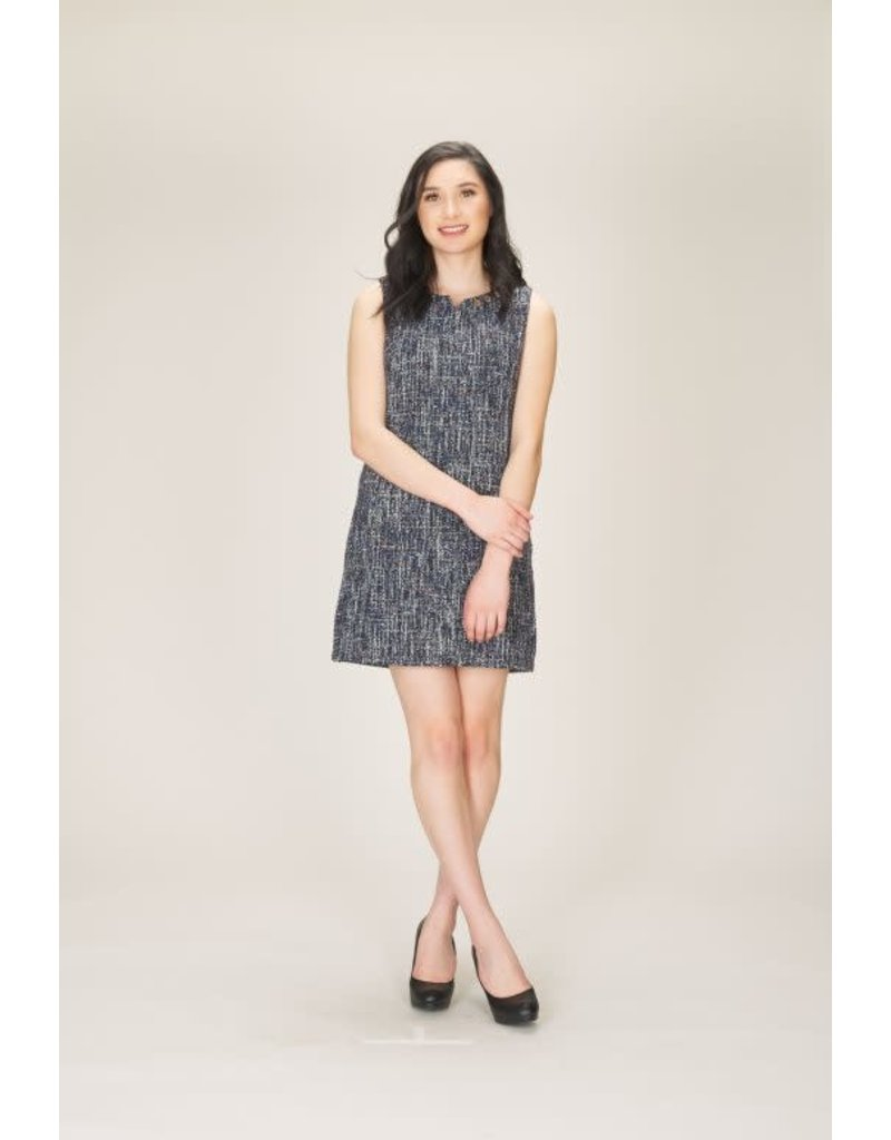Papillon Addy Sleeveless Tweed Dress