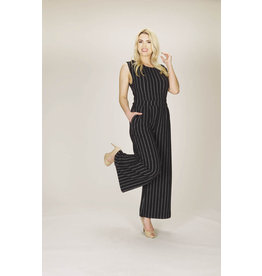 Papillon Delaney Pinstriped Jumpsuit