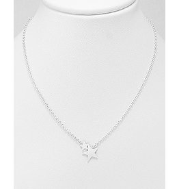 Sterling Necklace- Double Stars