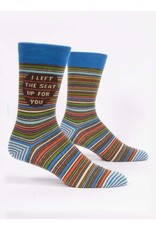Blue Q Men's Socks-I Left The Seat Up
