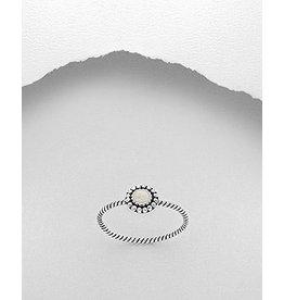 Sterling Ring-  White Resin